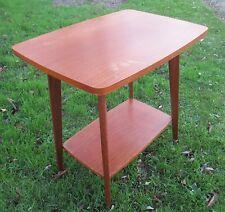 Vintage Authentic TV Stand Table On Wheels Mid Century Danish Modern Teak 60s
