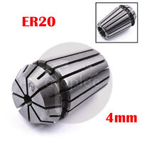 ER20 4mm Spring Collet for CNC Workholding & Milling Lathe Tool Accuracy 0.008mm