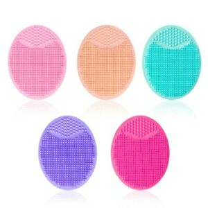 Exfoliating Silicone Wash Pad Face Cleansing Brush Scrubber Facial Skin 5 COLORS