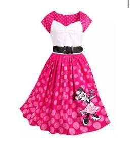 New Disney Parks The Dress Shop Pink Polka Dot Minnie Mouse Adult  Dress Xl