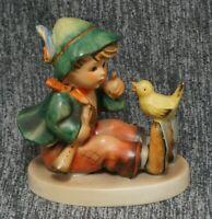 Hummel SINGING LESSON #63 TMK-3 - 3 1/8 inch - Boy and Bird