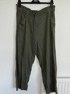 Ladies Quality Linen Blend, Elasic waist, Trousers By M&S. Size 14. Brand New