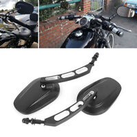 Black Motorcycle Rearview Mirrors For Harley-Davidson Heritage Softail Classic