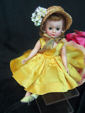 VINTAGE Madame Alexander CISSETTE doll TAGGED yellow DRESS high color BLONDE 50s