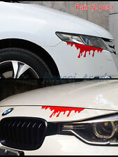 Pair (2 pcs) Funny Red Blood Stain Car Auto SUV Body Door Hood Decal Sticker