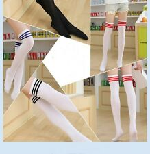 2017 Young Girls Stripe Over The Knee Thigh High Stockings Football Long Socks