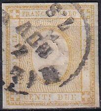 1862 REGNO D' ITALIA NR.10 USATO FIRMA E.DIENA