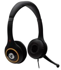 V7 HU511 Deluxe Digital Stereo Headset (Black with Colour Accent)