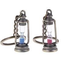 Mignon Lampe En Métal Forme Minuteur Sablier Bague Couple Porte-Clés Cadea FE