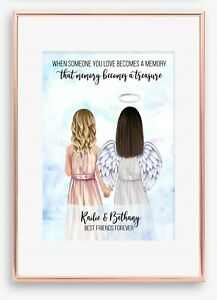 A4 Best Friend BFF Print Unique Personalised Keepsake Remembrance Memorial Gift