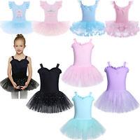 Girl Gymnastics Ballet Dress Toddler Kids Leotard Tutu Skirt Dance wear Costume