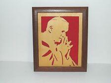Handcrafted Framed Silhouette Pope John Paul II Praying