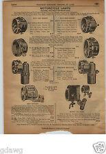 1913 PAPER AD 4 PG Solar Old Sol Motorcycle Lamp Light Headlight Vesta 20th Cent
