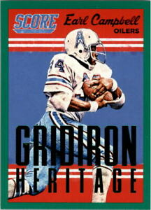 2015 Score Gridiron Heritage Green #1 Earl Campbell - NM-MT
