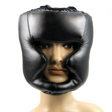Black Good Headgear Head Guard Training Helmet Kick Boxing Protection Gear SZHKD