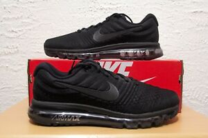 Nike Air Max 2017 Mens Size 11.5 Triple Black Running Shoes 849559-004