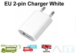 Euro USB plug EU 2 Pin Fast USB Wall Plug Charger White Adapter