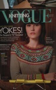 Oop Vogue Knitting magazine Winter 2017/18 Yokes Indigo Ivory Norah Gaughan