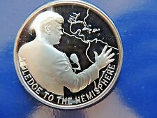 "Timeless Classic ""Pledge To The Hemisphere"" Legacy Of JFK Sterling Silver Medal"