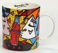 ROMERO BRITTO x Coca-Cola 'Kissing' 2014 Jumbo 16 oz. Mug Cup RETIRED Coke *NEW*