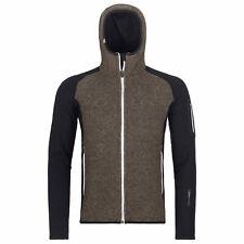 ORTOVOX pile Plus Classic Knitt Hoody per uomo nero in div. dimensioni NUOVO