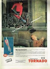 K- Publicité Advertising 1960 Aspirateur balai Tornado T4