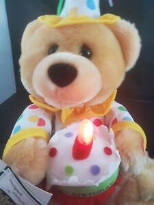 HAPPY BIRTHDAY SINGING TEDDY BEAR ANIMATED STUFFED PLUSH ANIMAL TOY NEW