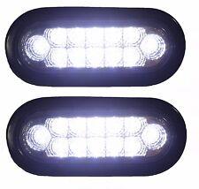 "6"" Oval Truck Bright Backup Lights LED's Pair of Lights RV Trailer"