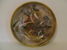 """VINTAGE REGIS BRODIE STUDIO HAND CRAFTED POTTERY BOWL 10"""" DIA. SIGNED ON BOTTOM"""