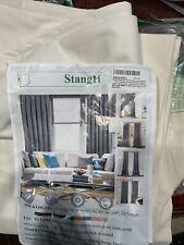 "StangH Living Room Velvet Curtains Teal - Grommet Top Blackout W52"" x L108"""