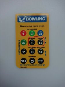 Bowling Intellivision Game Overlay