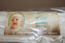 Chatham North Star Grandeur WHITE Crib Blanket Acrylic Satin 36 x 50 NIB - USA