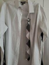 Van Heusen flex Dress Shirt -  Boys XL(18/20) With Clip On Tie in silver metal c