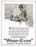 1920s BIG Vintage Wear-Ever Cookware Housewife Retro Kitchen Decor Art Print Ad