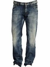 PRPS Barracuda Straight Leg Jeans Blue Shangri La Distressed E61P86X NEW W 30 32