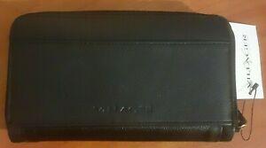 NEW Villager Ladies by Liz Claiborne Genuine Leather Wallet Black NWT tags QFRU0