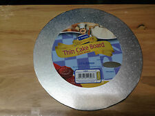 "Kingfisher 10""/25cm Thin Round Cake Board Foil Covered & Wrapped. Home Baking."