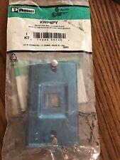 Panduit KWP6PY Keystone Wall Phone Plate with Cat 6 Keystone Jack