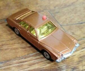 Vintage 1970s Corgi Juniors Police Car Buick Regal Diecast Kojak Brown Orange