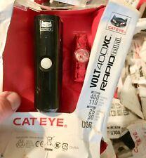Cateye Volt 400 XC Front +Rapid Mini Rear LED Bike LIGHT SET ( NO REAR MOUNT! )