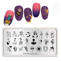 BORN PRETTY Nail Stamping Plates Rectangle Nail Art Stamp Tools Artist L005