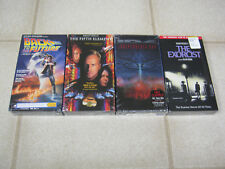 New VHS lot (4), Back to the Future, Fifth Element, Exorcist, ID4, SEALED!