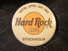 Hard Rock Cafe Stockholm Estbl April 16th 1985 Round Pin Button