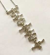 Star Trek Vulcan Script Necklace (T'hy'la- Meaning someone very close to you)
