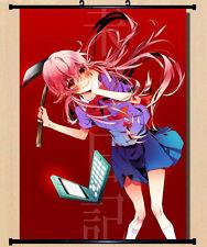 Home Decor Japanese Wall poster Scroll The Future Diary Gasai Yuno pink Art XE2