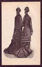 Antique Ladies Women's Victorian Fashion Costume Art Print