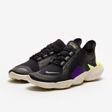 Nike Free RN Run 5.0 Shield UK 10 Black Metallic Silver Volt Purple BV1223-001