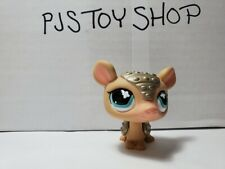 LPS Littlest Pet Shop sparkly/shiny armadillo #638 Authentic w/ Free Gift