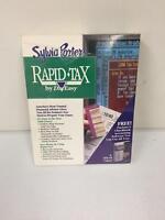 Vintage 1999 Sylvia Porters Rapid Tax PC Computer Software by DacEasy IBM MS-DOS