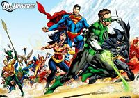 JUSTICE LEAGUE Characters PHOTO Print POSTER Movie Film Art Comics Superman 001